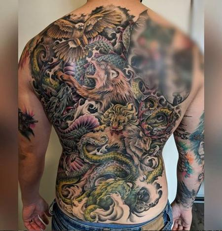 Tattoos - Bonnie Animal Back Piece - 140437